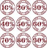 försäljningsvektor stock illustrationer