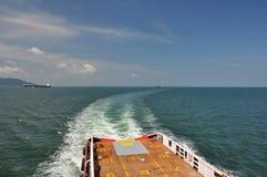 Försök i den Malacca kanalen Arkivbilder
