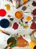 Försök som matchar målarfärg Fotografering för Bildbyråer