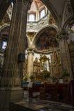 Församling av San Juan Bautista, Coyoacan, Mexico - stad, Mexico royaltyfria bilder
