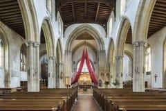 Församling- och priorsklosterkyrkan av helgonet Nicholas Arundel West Sussex Arkivbilder