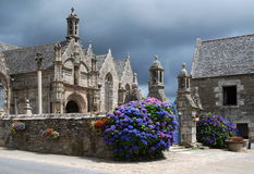 Församlingclose i Bodilis i Brittany Royaltyfri Fotografi