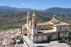 Församlingen av vår dam av inkarnationen, Olvera, Spanien Royaltyfria Foton