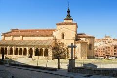 Församlingkyrka av San Millan i Segovia Royaltyfria Bilder