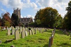 Församlingkyrka av St Mary oskulden i Fairford Royaltyfria Bilder