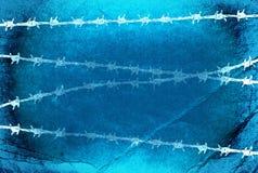 förse med en hulling blå texturtråd Royaltyfri Bild