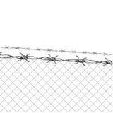 förse med en hulling stakettråd Arkivbild