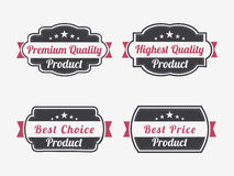 Förse med märke, etiketten eller klistermärken för högvärdig kvalitets- produkt Royaltyfri Bild