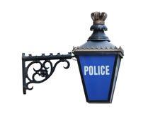 förse med polis tecknet Royaltyfri Fotografi