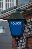 förse med polis tecknet royaltyfri bild