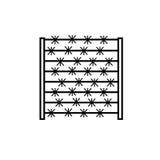 försedd med en hulling staketsymbol royaltyfri illustrationer