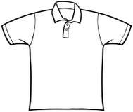 försedd med krage skjorta t stock illustrationer