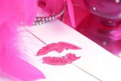 förseglad kyss Arkivbilder