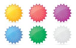 förser med märke färgrikt Royaltyfri Foto