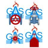 Förser med märke gasbransch Arkivbild
