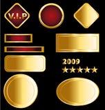förser med märke guld- medaljer stock illustrationer