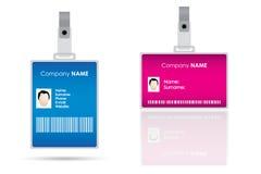 förser med märke name etiketter för ids Fotografering för Bildbyråer