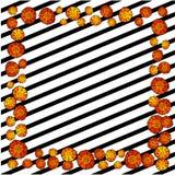 Försiktig blom- bakgrund med röda vallmo Modeller för textiler Arkivfoton