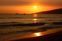försiktig guld- solnedgång Royaltyfria Foton