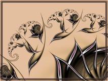 Försiktig och mjuk overklig blommig design Arkivfoton