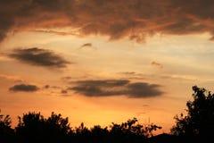 Försiktig rosa solnedgång Fotografering för Bildbyråer