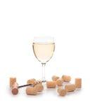 Försiktig sammansättning för vitt vin Arkivbilder