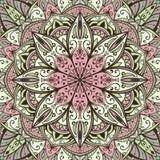 Försiktig vektorbakgrund med mandalaen Royaltyfri Bild
