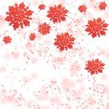 försiktiga röda snowflakes Royaltyfri Fotografi