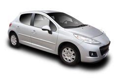 Försilvra bilen royaltyfri fotografi