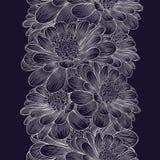 Försilvra den sömlösa hand-teckningen blom- bakgrund med blommakamomill arkivbilder