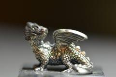 Försilvra draken Fotografering för Bildbyråer