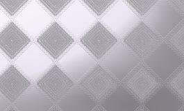 Försilvra grova och texturerade romber över metallisk bakgrund Royaltyfri Foto