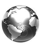 Försilvra jordklotet Arkivbilder