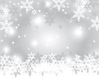 Försilvra julbakgrund Arkivfoto