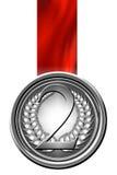 Försilvra medaljen Royaltyfria Bilder