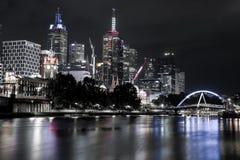 Försilvra Melbourne arkivbild
