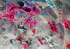 Försilvra pastellfärgat suddigt mörker brända fläckar, abstrakta vattenfärgpastelltoner Arkivfoto