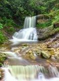 Försilvra vattenfallet i Sapa, Lao Cai, Vietnam Arkivfoton