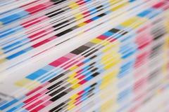 förskjuten printing för cmykbegrepp Arkivfoto