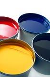 förskjuten printing för färgpulver Arkivbilder