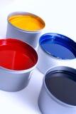 förskjuten printing för färgpulver Arkivbild