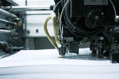 förskjuten printing för maskin Arkivfoto