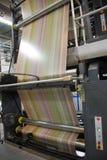 förskjuten rengöringsduk för pressrulle Arkivfoto