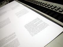 förskjutning utskrivavet ark Arkivfoto