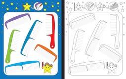 Förskole- arbetssedel royaltyfri illustrationer
