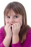 Förskräckt barnflicka Arkivfoto