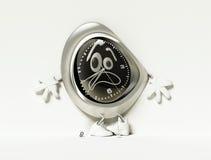 Förskräckt klocka i skor Arkivfoton