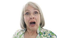förskräckt kvinna Fotografering för Bildbyråer