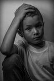 Förskräckt och bara Fotografering för Bildbyråer