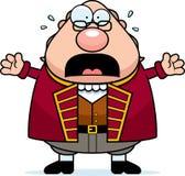 Förskräckt tecknad film Ben Franklin royaltyfri illustrationer